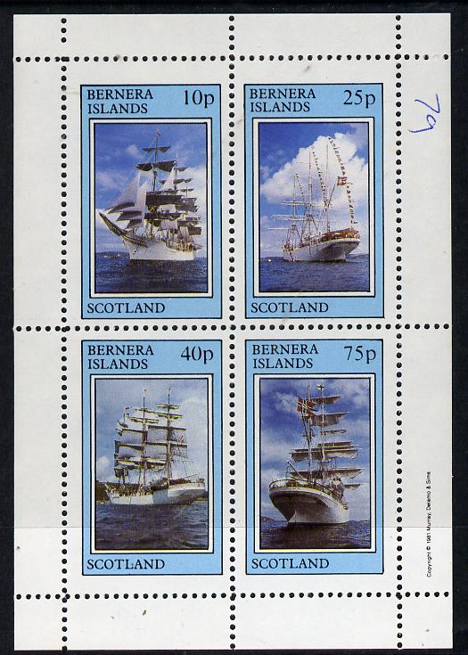 Bernera 1981 Tall Ships perf  set of 4 values (10p to 75p) unmounted mint