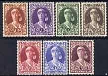 Belgium 1931 Anti-TB fund set of 7 fresh mounted mint, SG 593-99