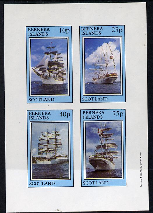 Bernera 1981 Tall Ships imperf  set of 4 values (10p to 75p) unmounted mint