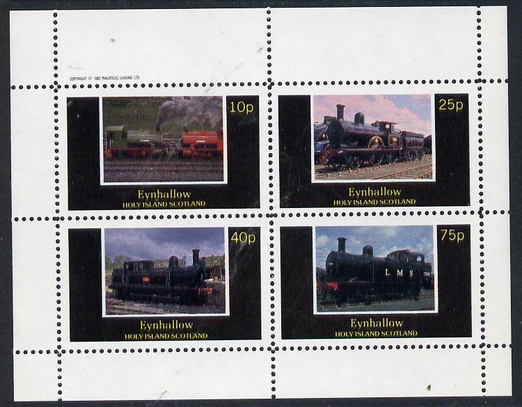 Eynhallow 1982 Steam Locos #07 perf  set of 4 values (10p to 75p) unmounted mint