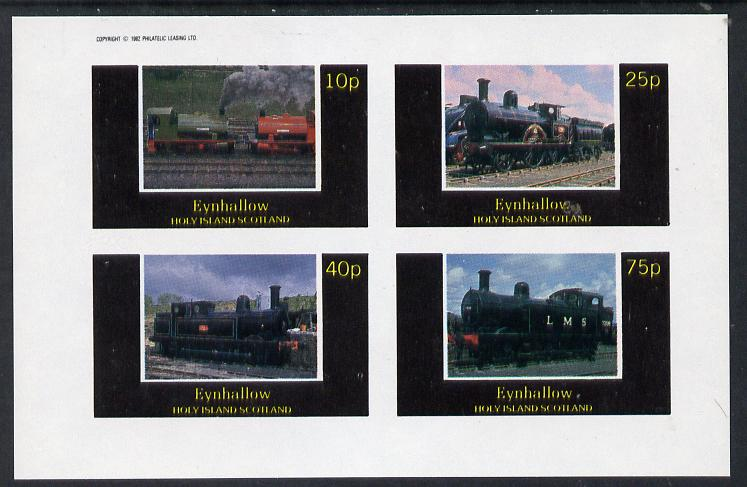 Eynhallow 1982 Steam Locos #07 imperf  set of 4 values (10p to 75p) unmounted mint