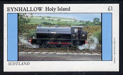 Eynhallow 1982 Steam Locos #07 imperf souvenir sheet (�1 value) unmounted mint