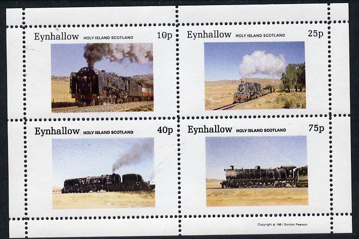 Eynhallow 1981 Steam Locos #01 perf  set of 4 values unmounted mint
