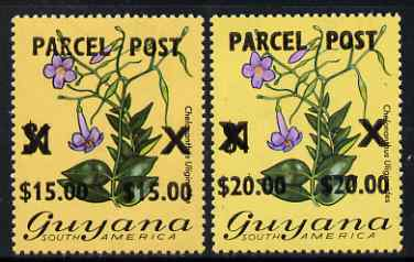 Guyana 1981 Parcel Post Surcharge set of 2 unmounted mint SG P1-2