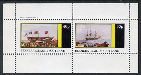 Bernera 1982 Paintings of Tall Ships (HMS Victory) perf  set of 2 values (40p & 60p) unmounted mint