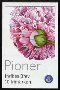 Booklet - Sweden 2001 Peonies 50k booklet complete, SG SB556