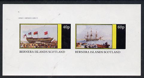 Bernera 1982 Paintings of Tall Ships (HMS Victory) imperf  set of 2 values (40p & 60p) unmounted mint