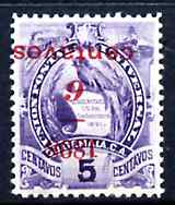 Guatemala 1898 6c on 5c with surcharge inverted fine but disturbed gum SG81var (Michel 76k)