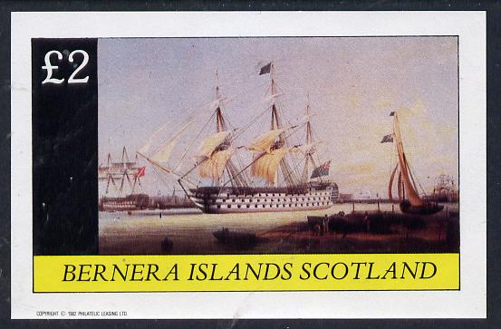 Bernera 1982 Paintings of Tall Ships (HMS Victory) imperf deluxe sheet (�2 value) unmounted mint