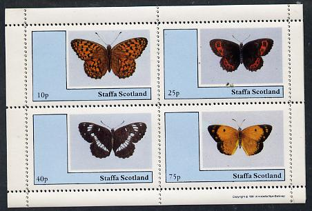 Staffa 1981 Butterflies perf  set of 4 values (10p to 75p) unmounted mint