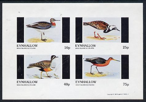 Eynhallow 1981 Waders #1 imperf  set of 4 values (10p to 75p) unmounted mint