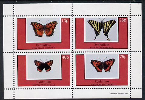 Eynhallow 1981 Butterflies perf set of 4 values unmounted mint