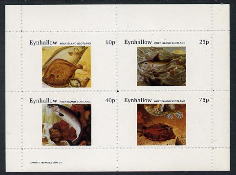 Eynhallow 1982 Fish #04 perf  set of 4 values (10p to 75p) unmounted mint