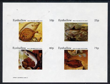 Eynhallow 1982 Fish #04 imperf  set of 4 values (10p to 75p) unmounted mint