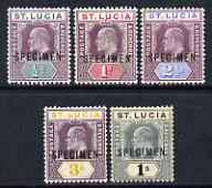 St Lucia 1902 KE7 set of 5 opt