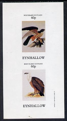 Eynhallow 1982 Birds of Prey #03 imperf  set of 2 values (40p & 60p) unmounted mint