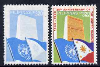 Philippines 1980 United Nations 3p20 perf proof in blue only unmounted mint - please note the image shows a normal for comparison but this is NOT included