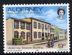 Guernsey - Alderney 1983-93 State's Building 9p unmounted mint SG A3