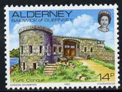 Guernsey - Alderney 1983-93 Fort Clonque 14p unmounted mint SG A8
