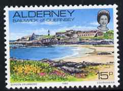 Guernsey - Alderney 1983-93 Corblets Bay & Fort 15p unmounted mint SG A9