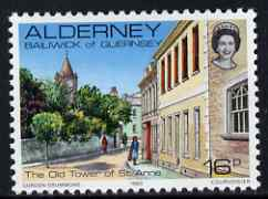 Guernsey - Alderney 1983-93 Old Tower, St Anne 16p unmounted mint SG A10