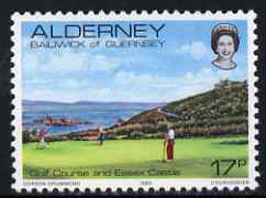 Guernsey - Alderney 1983-93 Golf Course & Castle 17p unmounted mint SG A11
