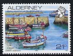 Guernsey - Alderney 1983-93 Braye Harbour 21p unmounted mint SG A12b