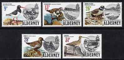 Guernsey - Alderney 1984 Birds perf set of 5 unmounted mint SG A13-17