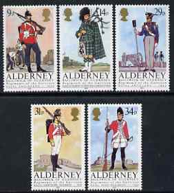 Guernsey - Alderney 1985 Regiments of the Garrison perf set of 5 unmounted mint SG A23-27