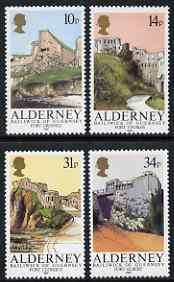 Guernsey - Alderney 1986 Forts perf set of 4 unmounted mint SG A28-31