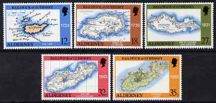 Guernsey - Alderney 1989 250th Anniversary of Survey perf set of 5 unmounted mint SG A37-41