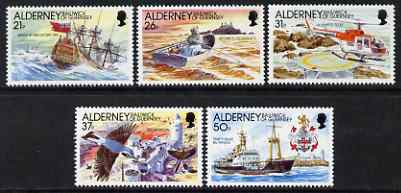Guernsey - Alderney 1991 Automation of Casquets Lighthouse perf set of 5 unmounted mint SG A47-51