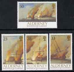 Guernsey - Alderney 1992 300th Anniversary of Battle of La Hogue perf set of 4 unmounted mint SG A52-55