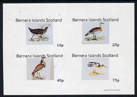 Bernera 1981 Waders imperf  set of 4 values (10p to 75p) unmounted mint