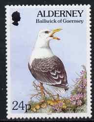 Guernsey - Alderney 1994-98 Flora & Fauna Defs 24p Gull & Sand Crocus unmounted mint SG A72