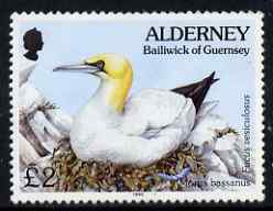 Guernsey - Alderney 1994-98 Flora & Fauna Defs £2 Gannet & Seaweed unmounted mint SG A77