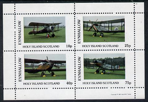 Eynhallow 1981 Bi-Planes #2 perf  set of 4 values (10p to 75p) unmounted mint
