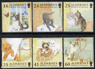 Guernsey - Alderney 1996 Cats perf set of 6 unmounted mint SG A89-92