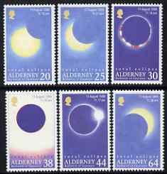 Guernsey - Alderney 1999 Total Eclipse of the Sun perf set of 6 unmounted mint SG A125-30