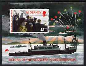 Guernsey - Alderney 1995 50th Anniversary of Return of Islanders perf m/sheet unmounted mint, SG MS A84