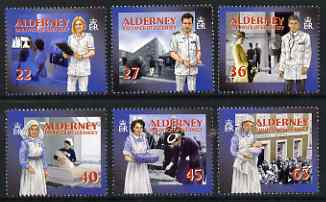 Guernsey - Alderney 2001 Community Services (1st series) Healthcare perf set of 6 unmounted mint SG A163-68