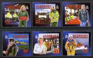Guernsey - Alderney 2002 Community Services (2nd series) Emergency Medical Aid perf set of 6 unmounted mint SG A197-202