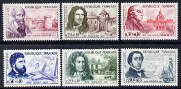 France 1960 Red Cross Fund - Celebrities perf set of 6 unmounted mint SG1488-93