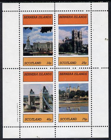 Bernera 1982 London Landmarks perf  set of 4 values (10p to 75p) unmounted mint