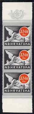 Croatia 1944 Postal & Railway Employee