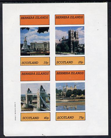Bernera 1982 London Landmarks imperf  set of 4 values (10p to 75p) unmounted mint