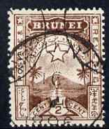 Brunei 1895 Star & Local Scene 1/2c brown cds used SG1