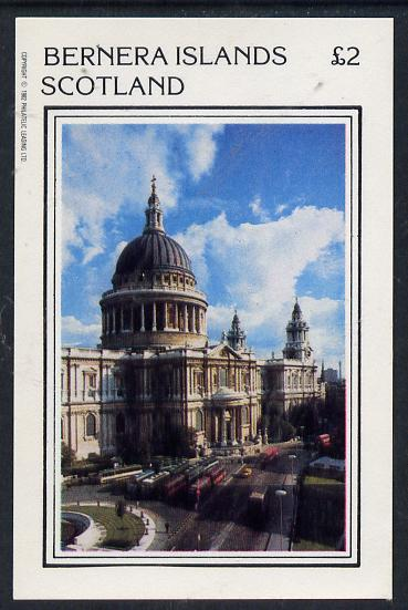 Bernera 1982 London Landmarks (St Pauls Cathedral) imperf deluxe sheet (�2 value) unmounted mint