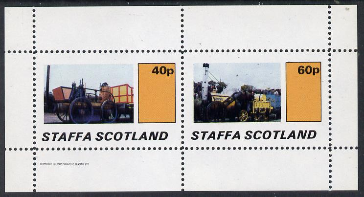 Staffa 1982 Early Steam Locos perf  set of 2 values (40p & 60p) unmounted mint