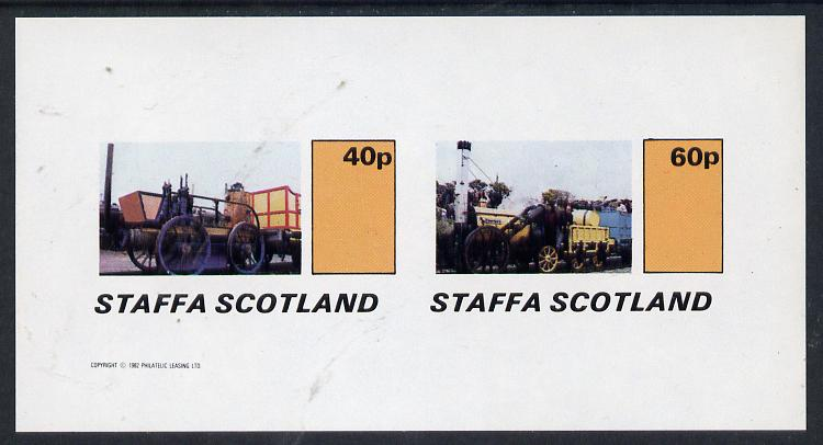 Staffa 1982 Early Steam Locos imperf  set of 2 values (40p & 60p) unmounted mint